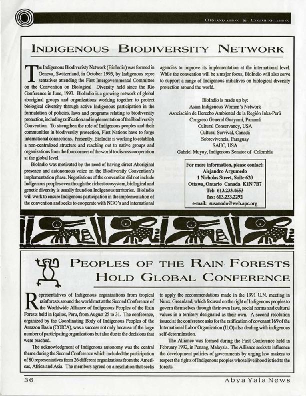 Indigenous Biodiversity Network