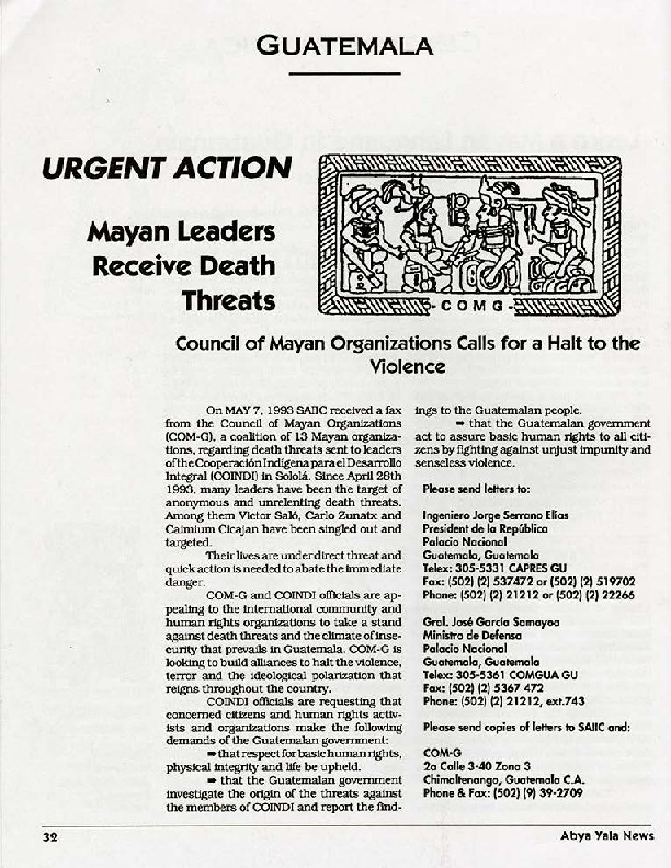 Urgent Action-Mayan Leaders Receive Death Threats.pdf