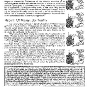 Rebirth Of Mayan Spirituality