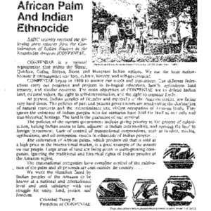 African Palm and Indian Ethnocide (Ecuador)