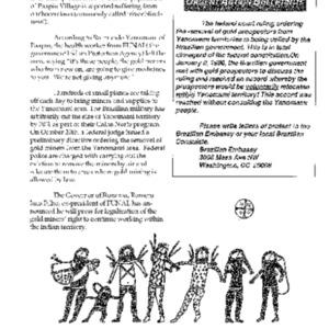 Urgent Action Bulletin (Brazil)