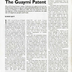 The Guaymi Patent