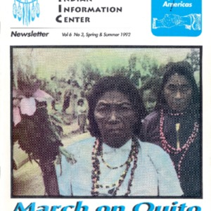 "Vol. 6, No. 3 (Spring and Summer 1992) ""March on Quito: Amazon Indians Demand To be Heard"""