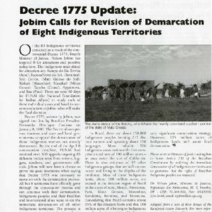 Decree 1775 Update: Jobim Calls for Revision of Demarcation of Eight Indigenous Territories