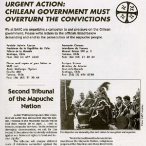 Chile: Second Tribunal of the Mapuche Nation