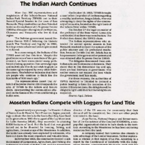 Bolivia: The Indian March Continues