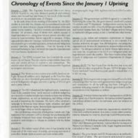 Chronology of Events Since the January 1 Uprising