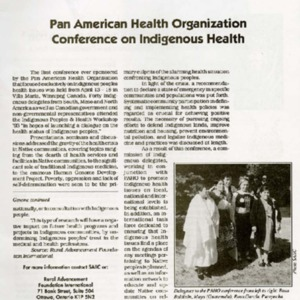 Pan American Health Organization Conference on Indigenous Health