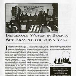 Indigenous Women in Bolivia Set Example for Abya Yala