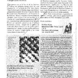 Gobierno Chileno Obstruye Participacion Mapuche en Elecciones