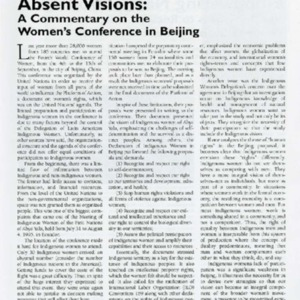 Absent Visions: A Commentary on the Women's Conference in Beijing