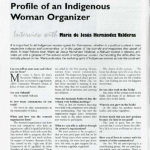 Profile of an Indigenous Woman Organizer
