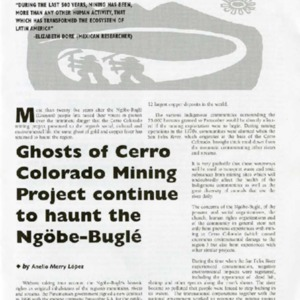 Ghosts of Cerro Colorado Mining Project Continue to Haunt the Ngobe-Bugle