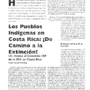 Los Pueblos Indigenas en Costa Rica: De Camino a la Extincion?