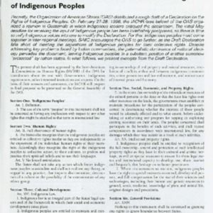 OAS Drafts Inter-American Declaration on the Rights of Indigenous Peoples