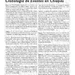 Cronologia de Eventos en Chiapas