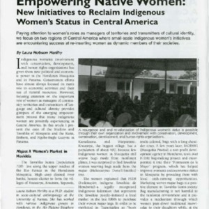 Empowering Native Women: New Initiatives to Reclaim Indigenous Women's Status in Central America