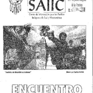 """Vol. 6, Nos. 1&2 (Spring & Summer 1992) """"Encuentro: Las Mujeres Indigenas de todo el Continente se Reunen para Enterrar los Cinco Siglos de Oscuridad y prepararse para una nueva Era"""""""