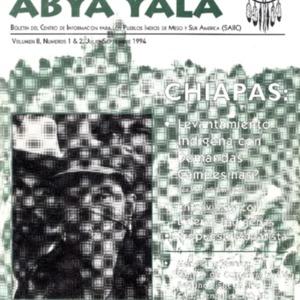 """Vol. 8, Nos. 1&2 (Julio-Septiembre 1994) """"Chiapas"""""""