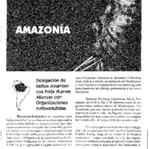 Delegacion de Indios Amazonicos Forja Nuevas Alianzas con Organaciones Ambientalistas (Amazonia)