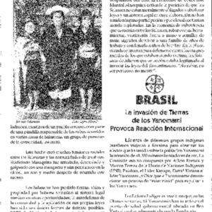 La Invasion de Tierras de los Yanomami Provoca Reaccion Internacional (Brasil)