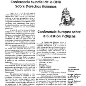 Conferencia Europea sobre la Cuestion Indigena