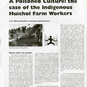 A Poisoned Culture: the Case of the Indigenous Huichol Farm Workers