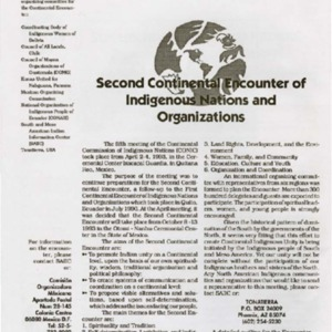 Second Continental Encounter of Indigenous Nations and Organizations