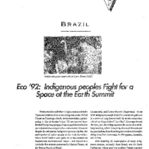 Eco '92: Indigenous peoples Fight for Space at the Earth Summit (Brazil)