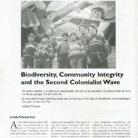 Biodiversity, Community Integrity and the Second Colonialist Wave