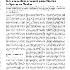 Dos encuentros cruciales para mujeres indigenas en Mexico