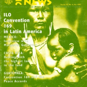 "Vol. 10, no. 4 (Fall 1997) ""ILO Convention 169 in Latin America"""