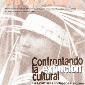 """Vol. 10, no. 2 (Deciembre 1996) """"Confrontado la Extincion Cultural: Las Culturas Indigenas Siguen Desapareciendo en las Americas"""""""