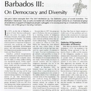 Barbados III: On Democracy and Diversity