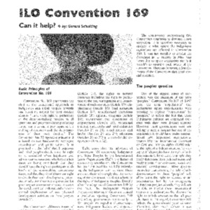 ILO Convention 169: Can it help?