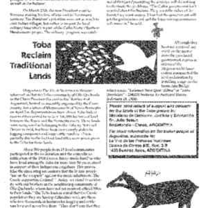 Toba Reclaim Traditional Lands (Amazon)