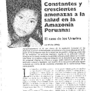 Constantes y crescientes amenazas a la salud en la Amazonia Peruana: El caso de los Urarina