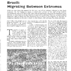 Brazil: Migrating Between Extremes, Interview with Paulo Pankararu