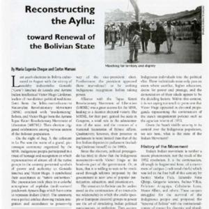 Reconstructing the Ayllu: Toward Renewal of the Bolivian State