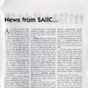 News from SAIIC...